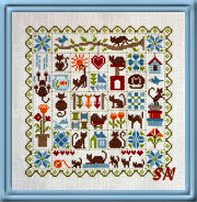 Patchwork aux Chats CATS from Jardin Prive - click for more