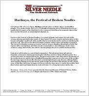 The Festival of Broken Needles! -- click to see more