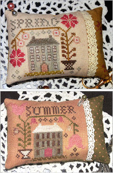 Mary Pilgrim's Sampler Pillow from Abby Rose - click for more
