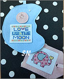 Pocket Card Blue Moon from AB Designs - click for more