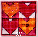 Fridge Art #14 Hearts Squared from AB Designs - click for more