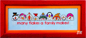Many Flakes a Family Makes from AB Designs - click for more