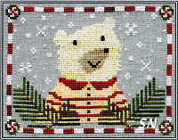 Peppermint Polar Bear from Artful Offerings - click for more