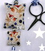Christmas Robins Scissor Fob from Barbara-Ana Designs - click to see more