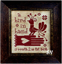 A Bird in Hand from Barbara-Ana Designs - click to see more