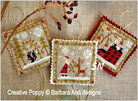 Ornament Trio from Barbara-Ana Designs - click to see more