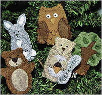 Forest Friends Finger Puppets from Bareroots - click to see more