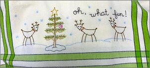 #263 Reindeer Dish Towel Kit from Bareroots - click to see more