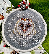 Winter Snow Owl from Blackberry Lane