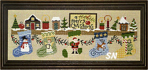 Santa & The Reindeer Christmas Mantle from Bent Creek - click for more