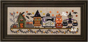 Spooky Halloween Mantle complete with final kit from Bent Creek - click for more