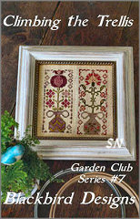Climbing the Trellis -- Garden Club #7 from Blackbird Designs - click for more