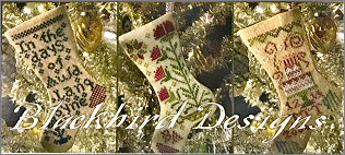 By the Chimney January Stockings from Blackbird Designs - click to see more