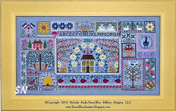 Blue Jeans and Daisies... Blue Ribbon's 2013 Mystery Sampler - click for more