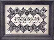 Black Velvet Inscription Sampler from Blue Ribbon Designs