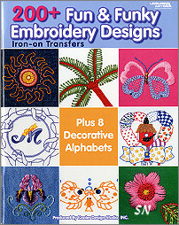 200+ Fun & Funky Embroidery Transfers - click to see more