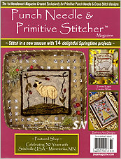 The Spring 2018 Issue of Punch Needle and Primitive Stitcher Magazine - click to see more