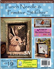 Spring 2019 Issue Punch Needle & Primitive Stitcher Magazine - click to see more