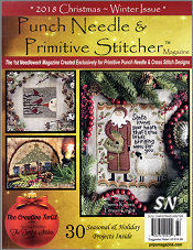 Winter's 2018 Mega-Issue by Punch Needle & Primitive Stitcher Magazine - click to see more