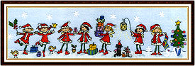 Row of Christmas Fairies from Bothy Threads - click for more