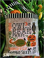 Halloween Seed Sack from Carriage House Samplings - click to see more