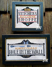 Tavern Signs Revisited from Carriage House Samplings - click to see more