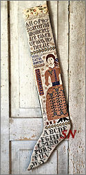The Embroideress Stocking from Kathy Barrick - click to see more