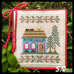 Welcome to the Forest #4 Blue Forest Cottage from Country Cottage Needleworks -- click to see more