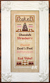 Cake Menu from Country Cottage Needleworks -- click to see more