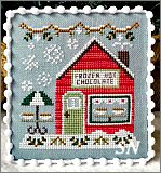 Snow Village part 5 Frozen Hot Chocolate Shop from Country Cottage Needleworks -- click to see more