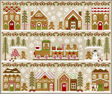 Country Cottage's Gingerbread Village Series -- click to see more