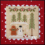 Gingerbread Village #7 Gingerbread Boy and Snowman from Country Cottage Needleworks -- click to see more