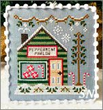 Snow Village part 4 Peppermint Parlor from Country Cottage Needleworks -- click to see more