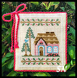 Welcome to the Forest #5 Pink Forest Cottage from Country Cottage Needleworks -- click to see more