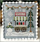 Snow Village part 6 Popsicle Cart from Country Cottage Needleworks -- click to see more