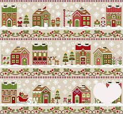 Needleworks Santas Village from Country Cottage Needleworks -- click to see more