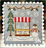 Snow Village part 3 Snowflake Stand from Country Cottage Needleworks -- click to see more