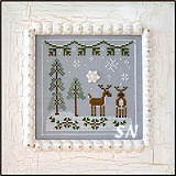 Frosty Forest #8 Snowy Reindeer from Country Cottage Needleworks -- click to see more