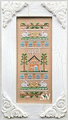 April Sampler of the Month from Country Cottage Needleworks -- click to see more