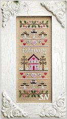February Sampler of the Month from Country Cottage Needleworks -- click to see more