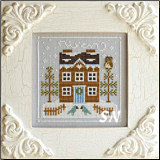 Frosty Forest #5 Bluebird Cabin from Country Cottage Needleworks -- click to see more