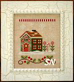 #8 Candy Cane Cottage from Country Cottage Needleworks -- click to see more