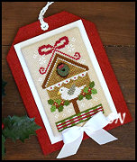 Classic Ornament #9 Christmas Birdhouse from Country Cottage Needleworks -- click to see lots more