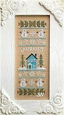 January Sampler of the Month from Country Cottage Needleworks -- click to see more