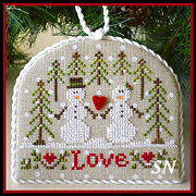 Classic Ornament #3 Snow Love from Country Cottage Needleworks -- click to see lots more