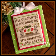 Classic Ornament #7 By The Chimney from Country Cottage Needleworks -- click to see lots more