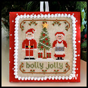 Classic Ornament #8 Holly Jolly from Country Cottage Needleworks -- click to see lots more