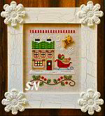 Santa's Village #9 Santa's Sleighworks from Country Cottage Needleworks -- click to see more