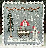 Snow village #11 Snow Cone Cart from Country Cottage Needleworks -- click to see more