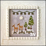 Frosty Forest #2 Snowy Deer from Country Cottage Needleworks -- click to see more